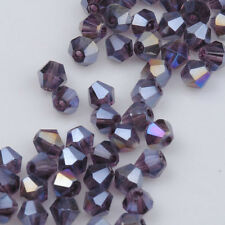 300pcs purple ab exquisite Glass Crystal 4mm #5301 Bicone Beads loose beads