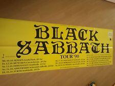 BLACK SABBATH  1990   orig. Concert - Konzert - Poster 168 x 59 cm SONDERGRÖSSE