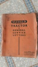 NUFFIELD TRACTOR GENERAL SERVICE LETTERS No.1, 1949 - 1951