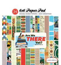 Carta Bella ARE WE THERE YET? 6x6 Paper Pad 24pc Travel Road Scrapbook Echo Park