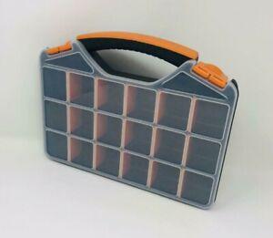 Tool Organizer Box Storage Plastic Adjustable Compartments Hardware Container