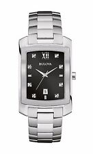 Bulova Men's 96D125 Diamond Markers Black Dial Quartz Dress Watch