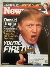 Donald Trump Hand Signed Newsweek Magazine Autograph President The Apprentice 04