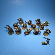 GW Warhammer 40K Ork Slugga Boyz x12 Part Paint g45