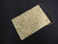 Antique Primitive Soapstone Bed Warmer w/ Handle or Foot Warmer Bedwarmer