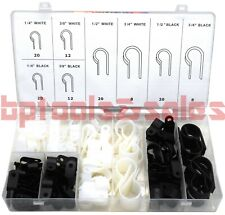 120pc Nylon Cable Clamp Assortment Set Flexible Clamps Secure Cables Wires Pipes
