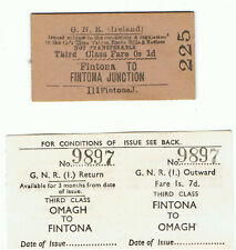 Railway Tickets Ireland,  2 No. GNR(I) FINTONA HORSE TRAM, Fintona Jnct.& Omagh