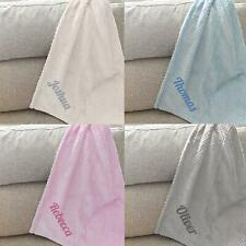 Personalised Newborn Baby Boys Girls Unisex Fleece Blankets Cute Baby Gift Idea