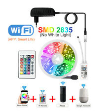 Tira Luces LED decoración habitación multicolor Cinta WIFI BLUETOOH 12V 5m 10m