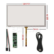 """6.1"""" 4 Wire Pins Resistive Touch screen Digitizer glass 148*82 + Controller Kit"""