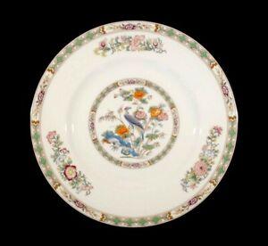 Beautiful Wedgwood Kutani Crane Brown Trim Lunch Plate