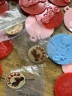 Zuhrah Cycle Corps Motorcycle Shriners Plastic Tags And Pins Lot Of 25 MPLS