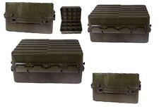 Svedese cassa plastica verde oliva usato cassetta degli attrezzi box