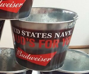 BUDWEISER MILITARY BEER BUCKET FOLDS OF HONOR FOUNDATION -SELECT THE SERVICE GRP