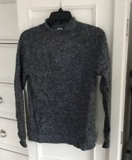 Women's GAP Heather Gray Mock Neck Knit Sweater Top Shell Sz XS