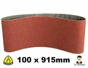 Sanding Belts KLINGSPOR 100 x 915mm DURABLE 4'' x 36'' Belt Sanders 40-240 GRIT
