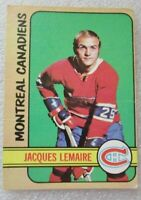 ORIGINAL O PEE CHEE 1972-73 JACQUES LEMAIRE CARD! MULTIPLE STANLEY CUP WINNER ==