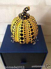 Rare YAYOI KUSAMA Limited Edition Sculpture Pumpkin Paper Weight NEW Yellow Vuit