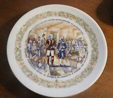 D'Arceau Limoges 1974 Legacy Plate: Lafayette Meets Washington Revolutionary War