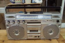 Vintage 1980s PE audio large ghetto blaster boombox great looking.