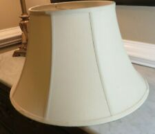 "Lamp Shade Linen Lined 8 sided Octagonal 10"" x 18"" x 10""  Off White"