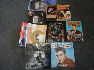 job lot of elvis presley memorabilia calendars,picture,mug,annuals & books