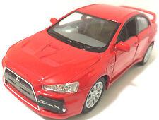 "1:36 Scale 2008 Mitsubishi Lancer Evo Evolution X diecast CAR model 5"" RED"
