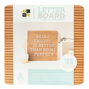 "American Crafts DCWV 12"" x 12"" Frameless Letter Board - Dark Wood, 188 Character"
