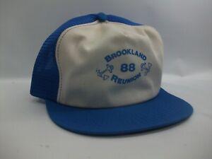 Brookland 88 Reunion Youth Hat Vintage K Brand Blue White Snapback Trucker Cap