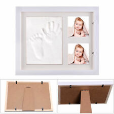 Baby Hands & Foot Print Clay Cast Kit & 2 Photo Picture Frame Christening Gifts