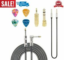 cable de amplificador para guitarra eléctrica acústica violín 10 pies y 4 púas