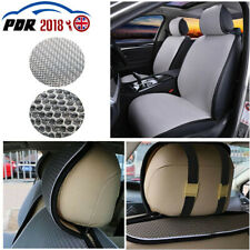 Universal 2pc Car Front Seat Covers Soft Gray Modern Mesh Sponge Chair Mat US