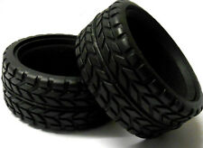 02116 1/10 1.10 Scale RC Nitro Car On Road RC Racing Rubber Tyres Tires x2 Black