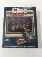 Clue VCR Mystery Game Parker Brothers 1985 Complete - Vintage VHS