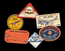 Airline Luggage Labels & Baggage Tag Stickers, 6 Steam Trunk Scrapbook Decals
