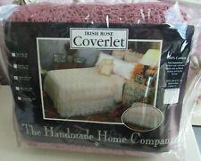 1983 NIP Handmade Home Co IRISH ROSE Coverlet 100% Cotton Queen Sears