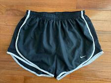 Women's NIKE Tempo Black White Dri-Fit Shorts Size Medium
