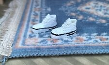 White Baseball Shoes / Trainers, Dolls House Miniatures, Dolls Accessories