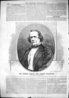 Old Antique Print 1864 Mr Samuel Phelps Famous Tragedian Moore Williamson 19th