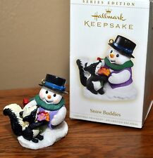 Hallmark Keepsake Ornament 2006 Snow Buddies 9th In Series Snowman With Skunk