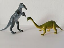 Vintage 1980s Imperial Dinosaurs Brontosaurus and duckbilled Diplodocus