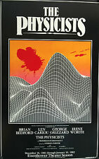 """THE PHYSICISTS 1981  WINDOW CARD 22"""" X 14"""" KENNEDY CENTER BRIAN BEDFORD"""