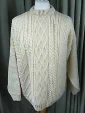 Aran Cable Jumper by Highland Home Industries Made in Scotland - L