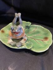 vintage frog ashtray made in occupied japan
