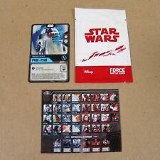 Star Wars: Last Jedi FORCE BATTLE CARD R2-D2 - Matahari Mart Promo - Indonesia