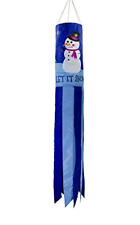 Windsock Hanging Winter Decoration Outdoor Let it Snow 40 Inch