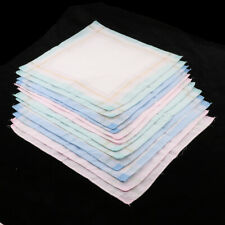 12pieces Handkerchief Assorted Cotton Pocket Square Formal Wedding Hankie