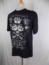 1adc32ec77a2c Marc Ecko Black Cut   Sew Steady Stream of Madness Print S S Shirt Large