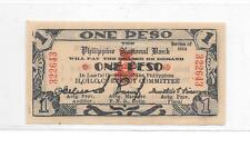 Philippines Emergency Currency Iloilo Nice 1944 Series- 1 Peso - # 322643