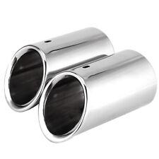 2x Embellecedor Silenciador Terminal de Tubo de Escape para AUDI A4 B8 2009-2012